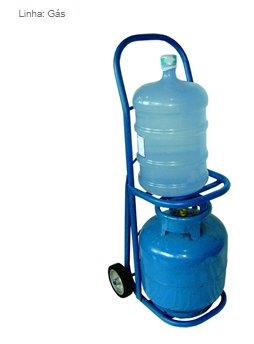 Carrinho para transporte de botijão de gás