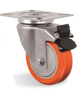 Rodas e rodízios para máquinas alimentícias